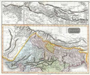 India and Nepal Geographicus