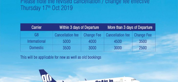 Revised Cancellation / Change Fee